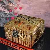 Сувениры и подарки handmade. Livemaster - original item The year of the tiger: Handmade jewelry box