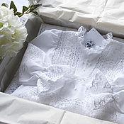 Работы для детей, handmade. Livemaster - original item Baptismal dress and cap