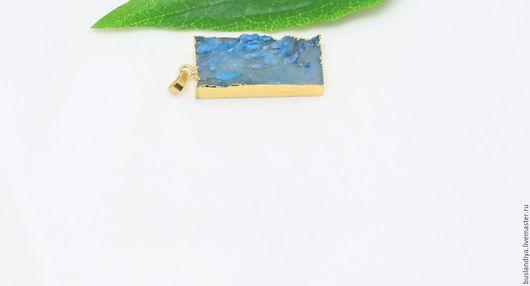 Для украшений ручной работы. Ярмарка Мастеров - ручная работа. Купить Кулон дымчато-голубой матовый №3. Handmade. Друза