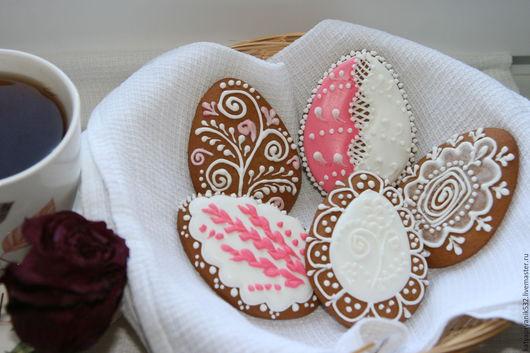 Кулинарные сувениры ручной работы. Ярмарка Мастеров - ручная работа. Купить Пасхальные пряники. Handmade. Розовый, пряник яйцо