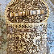 """Русский стиль ручной работы. Ярмарка Мастеров - ручная работа Короб из бересты.""""Цветочный"""". Handmade."""