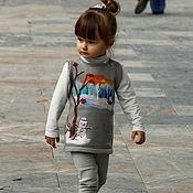 """Работы для детей, ручной работы. Ярмарка Мастеров - ручная работа Детский вязаный сарафан """"Зима"""". Handmade."""