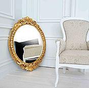 Для дома и интерьера ручной работы. Ярмарка Мастеров - ручная работа Зеркало овальное в раме. Handmade.