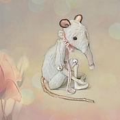 """Куклы и игрушки ручной работы. Ярмарка Мастеров - ручная работа Крыса Игрушка мягкая """"Сердце, полное нежности"""". Handmade."""