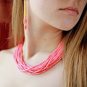 Украшения handmade. Livemaster - original item beads of coral