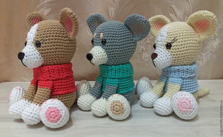 Амигуруми. Вязание крючком игрушки собачки в стиле амигуруми со схемами 43