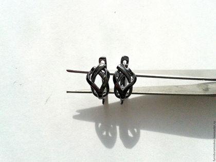 Для украшений ручной работы. Заказать Чёрные швензы в асс-те с родиевым покрытием,произ-во Ю.Корея. Камни,швензы,    фурнитура от Елены. Ярмарка Мастеров.