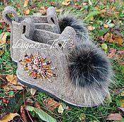 """Обувь ручной работы. Ярмарка Мастеров - ручная работа Валенки, модель """"Восточные"""". Handmade."""