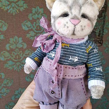 Куклы и игрушки ручной работы. Ярмарка Мастеров - ручная работа Тедди Котик. Handmade.