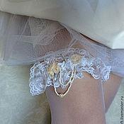"""Свадебный салон ручной работы. Ярмарка Мастеров - ручная работа Подвязка """"Pastel Roses"""" свадебная для невесты. Handmade."""