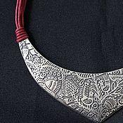 Украшения handmade. Livemaster - original item Malevka necklace on cotton cords. Handmade.
