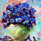 Picture of Forget-me-nots, oil/ 3d canvas, Pictures, Belgorod,  Фото №1