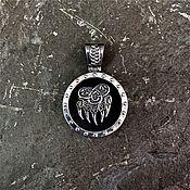 Украшения handmade. Livemaster - original item Shield made of wood with the seal of Veles (bear`s paw). Handmade.