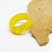 Украшения handmade. Livemaster - original item Wide ring in yellow agate 17 size. Handmade.