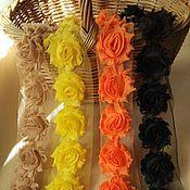 Материалы для творчества ручной работы. Ярмарка Мастеров - ручная работа Трехмерные розы Шебби Шик 4 см  № 9-12. Handmade.