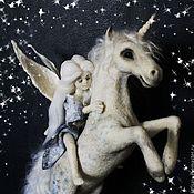 Куклы и игрушки ручной работы. Ярмарка Мастеров - ручная работа Fairy Tail. Фея и единорог (символ 2014 года). Handmade.