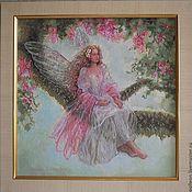 Картины и панно ручной работы. Ярмарка Мастеров - ручная работа Древесная фея - вышитая картина. Handmade.