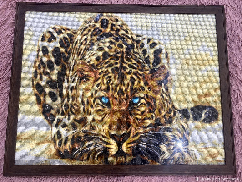 "Картина стразами ""Леопард"" 70 х 55 см, Картины, Москва,  Фото №1"