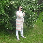 Одежда ручной работы. Ярмарка Мастеров - ручная работа вязаное демисезонное пальто Богема. Handmade.
