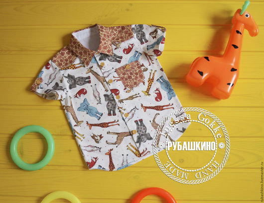 """Одежда для мальчиков, ручной работы. Ярмарка Мастеров - ручная работа. Купить Рубашка """"Африка"""". Handmade. Белый, рубашка на лето"""
