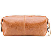 Сумки и аксессуары handmade. Livemaster - original item Leather cosmetic bag
