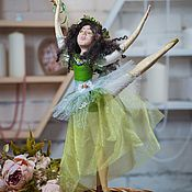 Куклы и игрушки handmade. Livemaster - original item Doll out of polymer bake clay the Approach of Spring. Handmade.