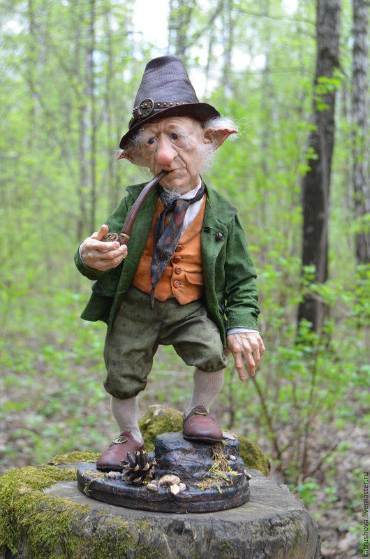 Коллекционные куклы ручной работы. Ярмарка Мастеров - ручная работа. Купить Томас. Handmade. Тёмно-зелёный, полимерная глина
