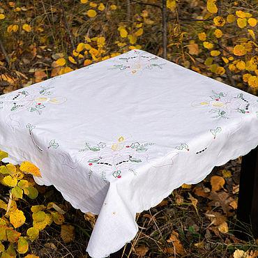 Текстиль ручной работы. Ярмарка Мастеров - ручная работа Скатерти: новогодняя скатерть. Handmade.