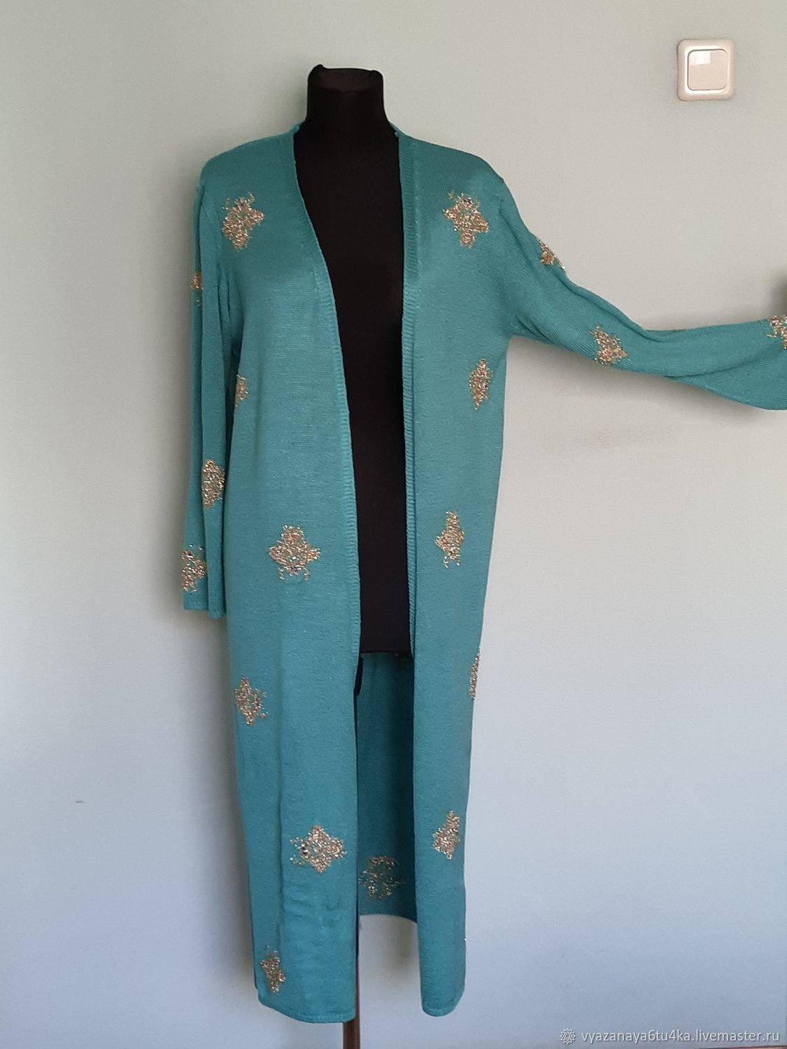 cardigans: TURQUOISE LONG, Cardigans, Moscow,  Фото №1