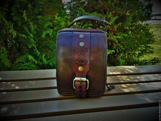Мужские сумки ручной работы. Ярмарка Мастеров - ручная работа. Купить Сумка - трансформер мужская на ремень. Handmade. Мужская сумка