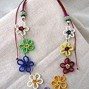 Украшения handmade. Livemaster - original item Macrame necklace