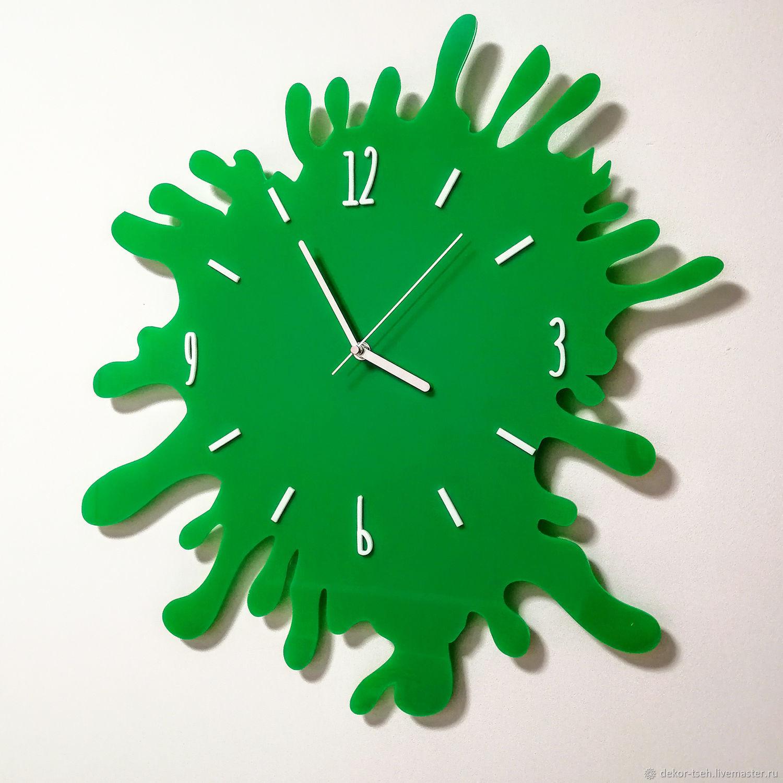 """Детские настенные часы """"Клякса"""", Часы классические, Челябинск,  Фото №1"""