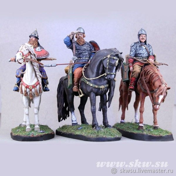 Russian heroes at the outpost. 13th century. Tin soldier. Collapsible, Model, Kursk,  Фото №1