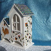 """Для дома и интерьера handmade. Livemaster - original item House for tea bags """"Golden cockerel"""". Handmade."""
