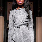 """Одежда ручной работы. Ярмарка Мастеров - ручная работа Платье """"Lotos"""" grey. Handmade."""