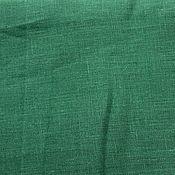 Материалы для творчества ручной работы. Ярмарка Мастеров - ручная работа Лён 100%. Изумрудный.. Handmade.
