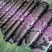 Материалы для творчества handmade. Livemaster - original item Python skin, the color of the shade foxy, apparel and soft dressing!. Handmade.