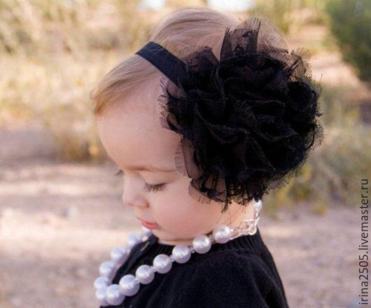 Шапки и шарфы ручной работы. Ярмарка Мастеров - ручная работа. Купить Повязки на голову. Handmade. Комбинированный, повязка с цветком, резинка