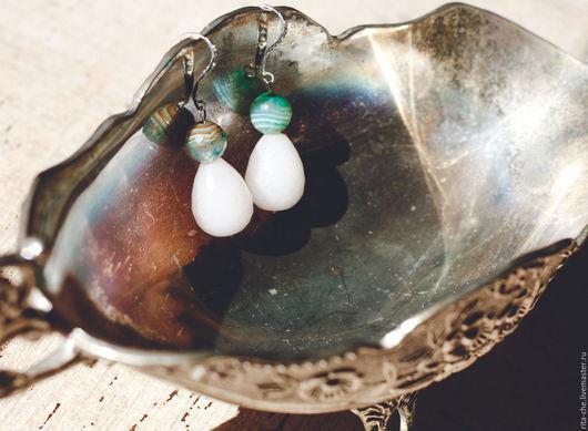 Серьги ручной работы. Ярмарка Мастеров - ручная работа. Купить Серьги из натурального камня. Ручная работа.. Handmade. Серьги