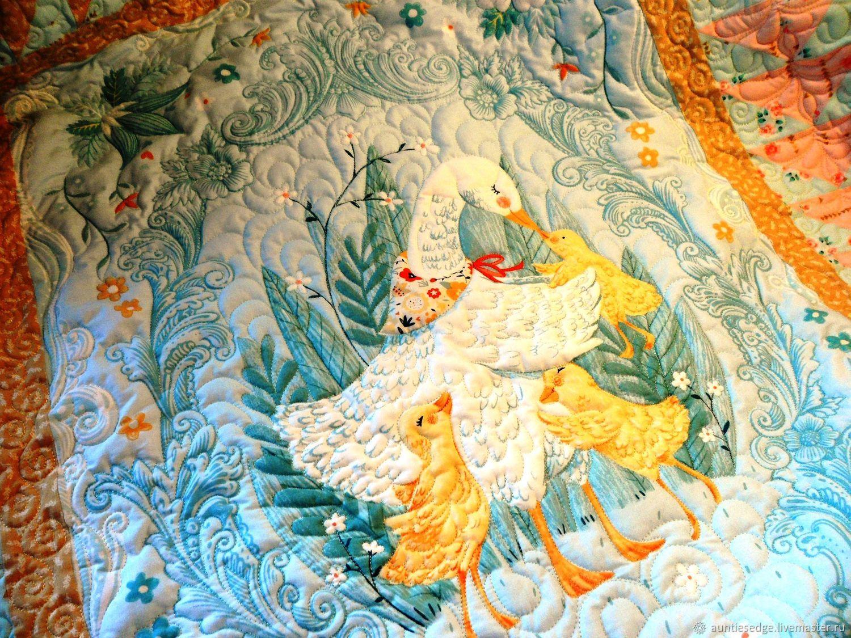 """Одеяло покрывало лоскутное стеганое  """"Матушка Гусыня-5 """", Покрывала, Курск,  Фото №1"""