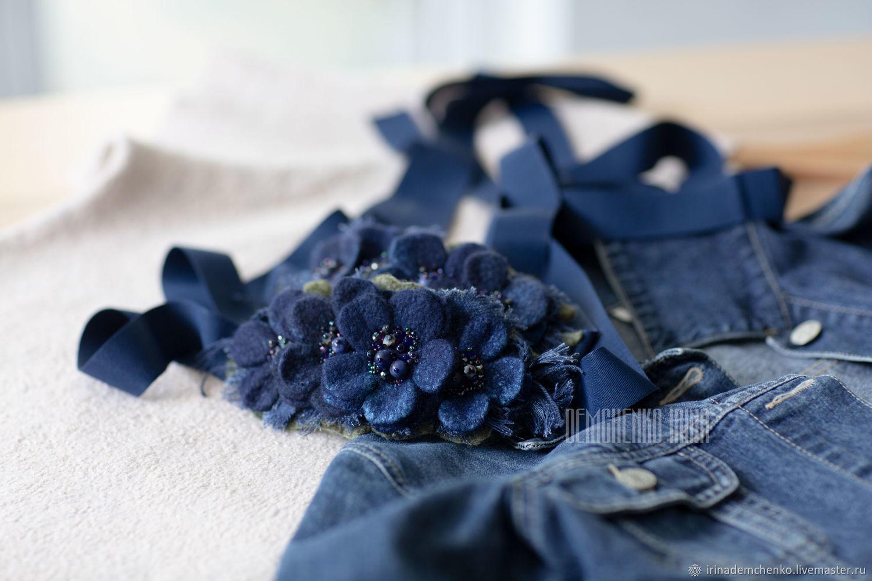Валяная повязка на голову  «Aquamarine flowers», Диадемы, Краснодар,  Фото №1