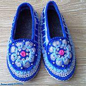 Обувь ручной работы handmade. Livemaster - original item Slippers crochet Valentine. Handmade.
