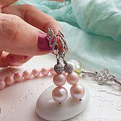 """Украшения ручной работы. Ярмарка Мастеров - ручная работа сережки """"Розовый шелк"""". Handmade."""