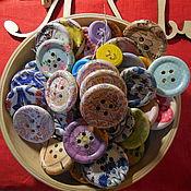 Подарки к праздникам ручной работы. Ярмарка Мастеров - ручная работа Пуговка на счастье. Handmade.