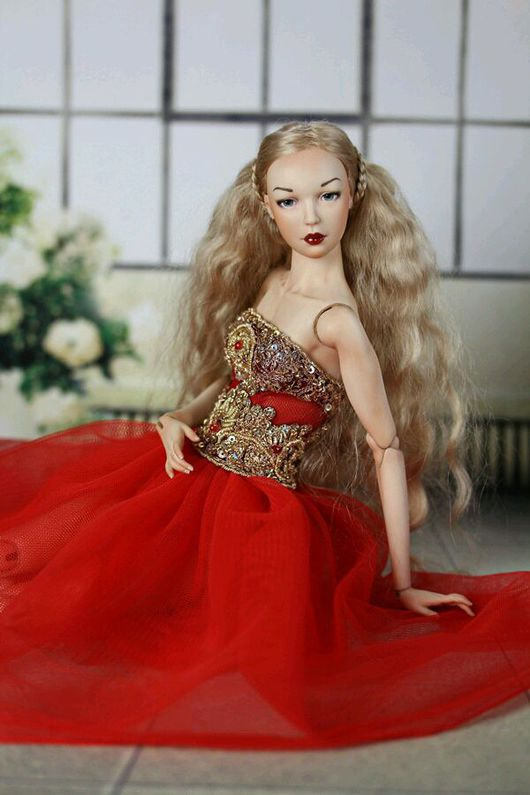 Коллекционные куклы ручной работы. Ярмарка Мастеров - ручная работа. Купить Шарнирная фарфоровая кукла Лаура. Handmade. Шарнирная кукла