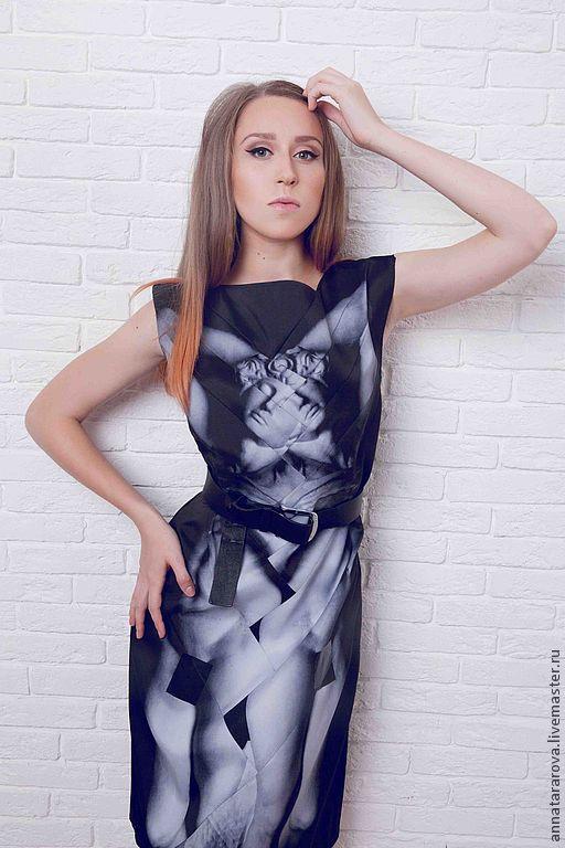 """Платья ручной работы. Ярмарка Мастеров - ручная работа. Купить Платье """"Микеланджело"""". Handmade. Черный, симметрия, скульптура, рабы микеланджело"""