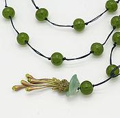 Украшения handmade. Livemaster - original item Sotoir of glass with jellyfish (green). Handmade.