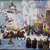 Картины и панно ручной работы. Ярмарка Мастеров - ручная работа Масленица 71х98. Handmade.