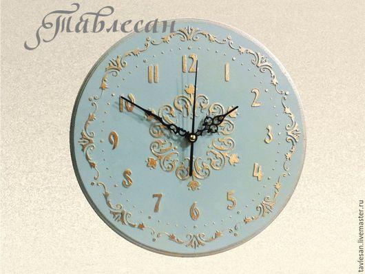 """Часы для дома ручной работы. Ярмарка Мастеров - ручная работа. Купить Настенные часы """"Небо Прованса"""" круглые. Handmade."""