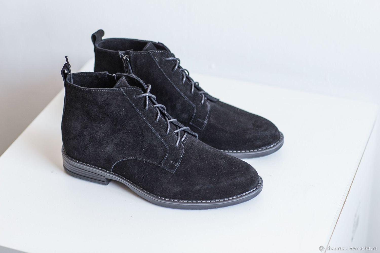 0a0bd9c83 Обувь ручной работы. Ярмарка Мастеров - ручная работа. Купить Мужские  ботинки с квадратным носком ...